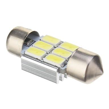 Festoon Araba Soğuk Beyaz 2W SMD 5730 6000 Gösterge Işıkları Plaka Aydınlatma Lambası Fren Işığı Sinyal Lambası