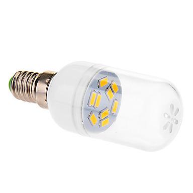 E14 Lâmpada Redonda LED 9 leds SMD 5630 Branco Quente 290lm 2500-3500K AC 220-240V
