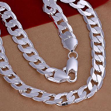 tatlı gümüş bakır zincir kolye (1 adet)