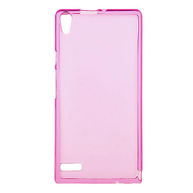 Minimalist Silicone Solid Color Back Case for Huawei P6