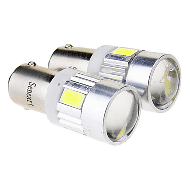 BA9S Araba Soğuk Beyaz 2.5W SMD 5730 6000 Gösterge Işıkları Sinyal Lambası