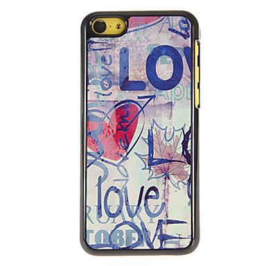 IPhone 5C için 3 Paketli HD Ekran Koruyucu Love ile Desen PC Hard Case of karalayıvermek