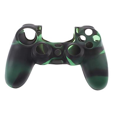 Silikon Kılıf ve PS4 (Yeşil + Siyah) için 2 Black Thumb Stick Sapları
