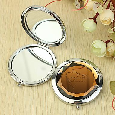 Personalizirani dar srca Pattern Chrome Compact Mirror