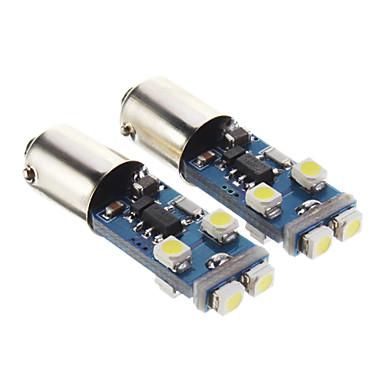 T10 BA9S Araba Soğuk Beyaz 4W 6000 Gösterge Işıkları Okuma Işığı Yan Lambalar Fren Işığı Kapı lambası