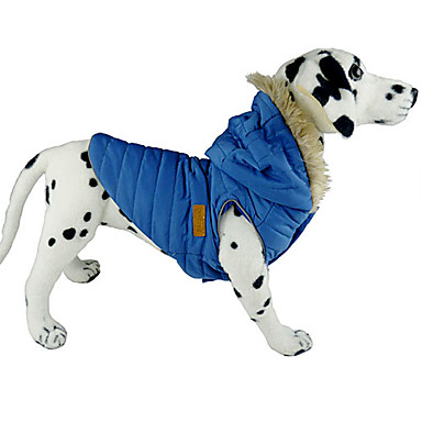 Dog Coat Hoodie Vest Dog Clothes Solid Colored Brown Blue Pink Cotton Costume For Pets