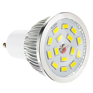 GU10 LED Spot Işıkları 15 led SMD 5730 Kısılabilir Sıcak Beyaz 100-550lm 2700-3500K AC 220-240V