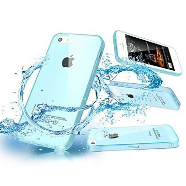 TPU Soft Shell with Dust Plug Back Case for iPhone 4/4S (Assorted Color)