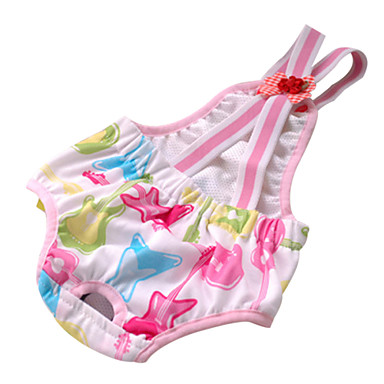 Fashion Cotton Cute Sanitary Pant for Dogs with Straps (Random Color)