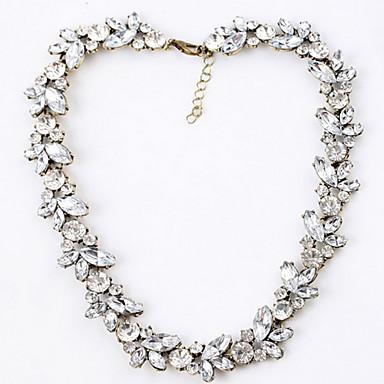 Заявление ожерелья Синтетические драгоценные камни Стразы Искусственный бриллиант Сплав Заявление ожерелья , Для вечеринок Повседневные