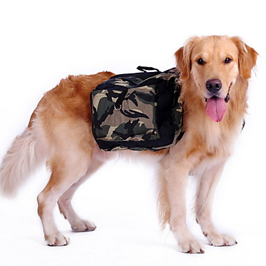 cheap Dog Clothing & Accessories-Dog Commuter Backpack Dog Clothes Camo / Camouflage Green Nylon Costume For Husky Labrador Alaskan Malamute Spring &  Fall Summer Men's Women's Sports