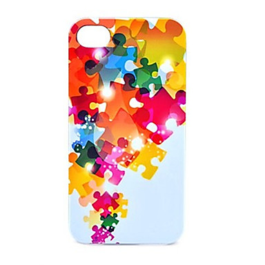 Colorful Puzzle Pattern Back Case for iPhone 5/5S