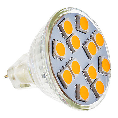 SENCART 210-250lm GU5.3(MR16) LED Spot Işıkları MR11 12 LED Boncuklar SMD 5050 Sıcak Beyaz 12V