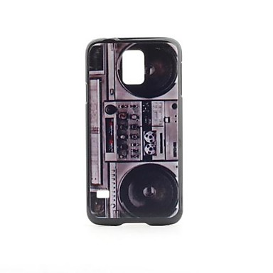 Samsung Galaxy i9600 S5 Vintage Boombox Pattern PVC Geri Case