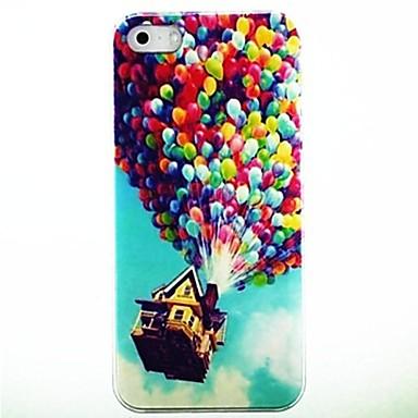 Için iPhone 5 Kılıf Temalı Pouzdro Arka Kılıf Pouzdro Balon Sert PC iPhone SE/5s/5