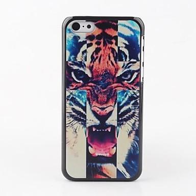 IPhone 5C için renkli Tiger Merkez Back Case