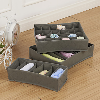 Storage Boxes Textile with 1 Boxes , Feature is Open , For Underwear