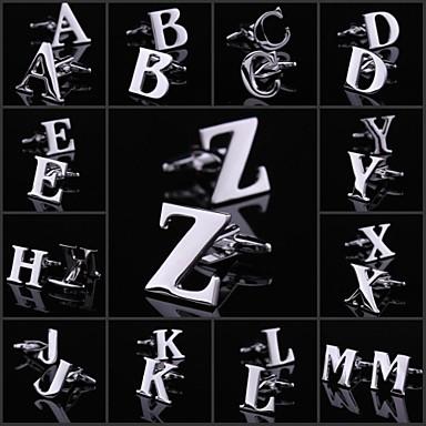 X / Y / Z 커프링크스 구리 남성용 의상 보석 제품