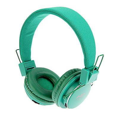 TF / FM Fonksiyonu ile MRH-8809 3.5mm Stereo Katlanabilir On-Ear Kulaklık (Yeşil)