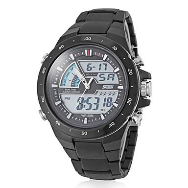 Χαμηλού Κόστους Ανδρικά ρολόγια-SKMEI Ανδρικά Αθλητικό Ρολόι Ρολόι Καρπού Ψηφιακό ρολόι Χαλαζίας Ψηφιακή Γιαπωνέζικο Quartz Μαύρο 30 m Ανθεκτικό στο Νερό Συναγερμός Ημερολόγιο Αναλογικό-Ψηφιακό Μοντέρνα - Λευκό Μαύρο Κόκκινο / LCD