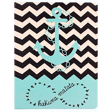 The Waves Ships Anchor Pattern PU Leather Full Body Case with Stand for iPad 2/3/4