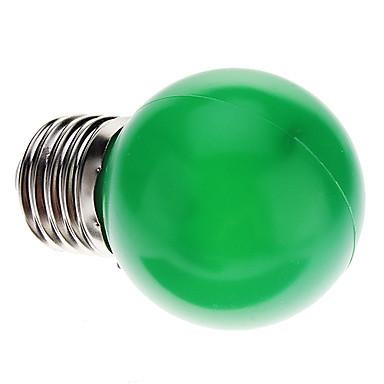 0.5W 50 lm E26/E27 LED Küre Ampuller G45 7 led Dip LED Dekorotif Yeşil AC 220-240V
