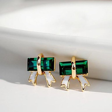 Kadın's Vidali Küpeler Kristal alaşım Mücevher Günlük Kostüm takısı