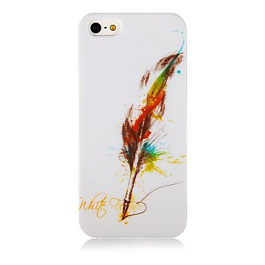 Quill-Pen Pattern Silicone Soft Case for iPhone4/4S