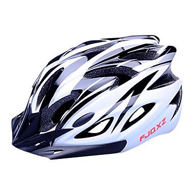 FJQXZ Adulți biciclete Casca 18 Găuri de Ventilaţie Rezistent la Impact Vizor detașabil Ventilație EPS PC Sport Ciclism stradal Ciclism / Bicicletă - Negru / Alb Bărbați Pentru femei Unisex
