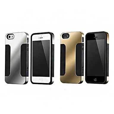 Gold Plating and Silver Plating Back Case for iPhone 5/5S (Assorted Color)