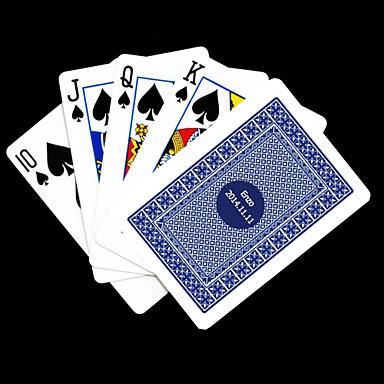 Poker Kart oynamak Kişiselleştirilmiş Hediye Blue Check Pattern