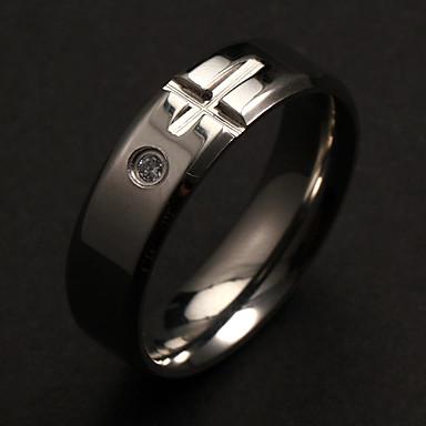 Evlilik Yüzükleri Moda lüks mücevher Kişiselleştirilmiş Paslanmaz Çelik Simüle Elmas Cross Shape Mücevher IçinParti Günlük Yılbaşı