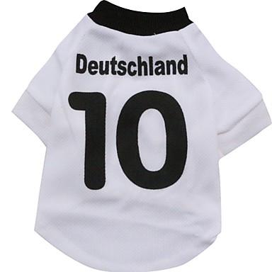 Gato Cachorro Camiseta Camisa Roupas para Cães Esportes Carta e Número Branco Ocasiões Especiais Para animais de estimação