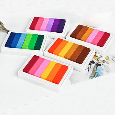 Yaratıcı 6 Renk inkpad (Rastgele Renk)