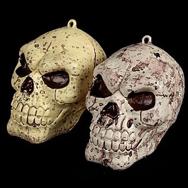 Human Skeleton Skull Practical Joke Decoration for Halloween Costume Party&Bar(1PCS,Random Color)
