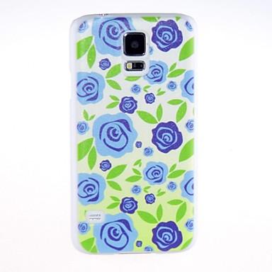 Için Samsung Galaxy Kılıf Temalı Pouzdro Arka Kılıf Pouzdro Çiçek PC Samsung S5