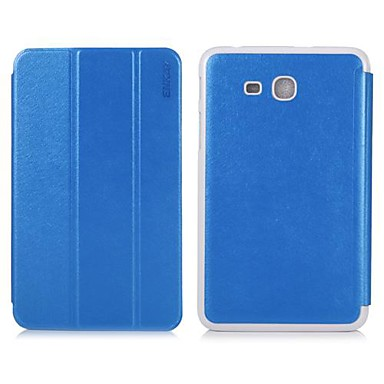 ENKAY 3-Folds Protective PU Leather Case with Stand for Samsung Galaxy Tab 3 Lite T110