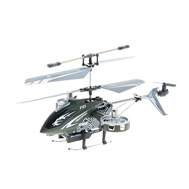 4-kanals mini indbygget gyro rc helikopter med to side-motorer