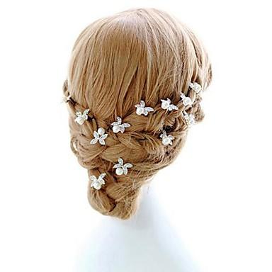 Kadın Çiçekçi Kız alaşım İmitasyon İnci Başlık-Düğün Özel Anlar Saç İğnesi 2 Parça