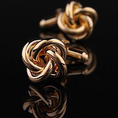 aur noduri de cupru buton xinclubna® bărbați modă lui (aur) (1pair)