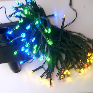 17m 100 LED-uri reîncărcabile / decorative pentru exterior / grădină pvc Crăciun decorație lumini șir alb / curcubeu