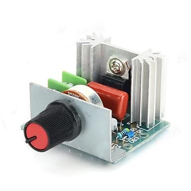 FR-4 Un 2000W Electronic Voltage Regulator w / Dimmer / Speed / Ajustare a temperaturii - Verde