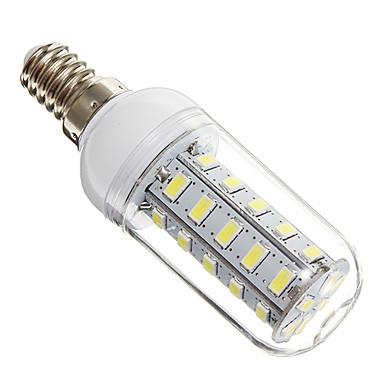 4W 350-400 lm E14 LED Mısır Işıklar 36 led SMD 5730 Serin Beyaz AC 220-240V