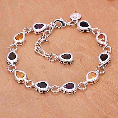 moda 25 centímetros cobre pulseiras de prata das mulheres