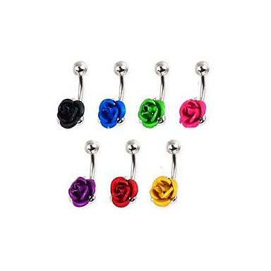 lureme®316l chirurgical inel de titan flori de oțel buric (culoare aleatorii)