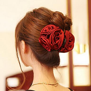 Недорогие Другие украшения-Жен. Элегантный стиль Гребни-Цветы Акрил Ткань
