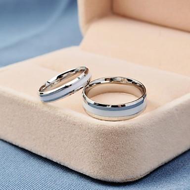 Heren Dames Ringen voor stelletjes Modieus Titanium Staal Rond Sieraden Dagelijks Causaal