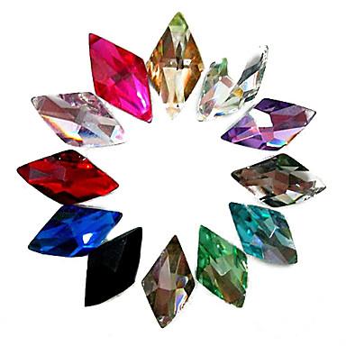 24 pcs Tırnak Takısı Yapay Elmaslar tırnak sanatı Manikür pedikür Günlük Soyut / Düğün / Moda / Nail Jewelry