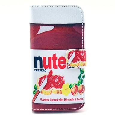 IPhone 5/5S için Kart Yuvası ile Nute Tasarım PU Full Body Kılıf