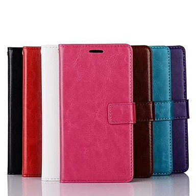 Case For LG G3 / LG LG Case Wallet / Card Holder / with Stand Full Body Cases Solid Colored Hard PU Leather for